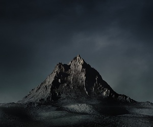 dark, mountain, and aesthetic image