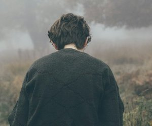 boy, fog, and sweater image