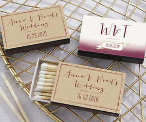 matchbox, party favors, and wedding image
