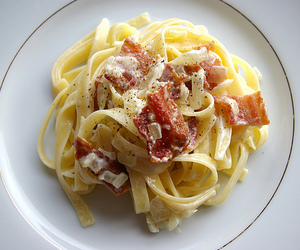 pasta, food, and ham image