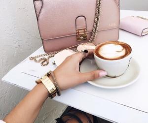 coffee, bag, and pink image