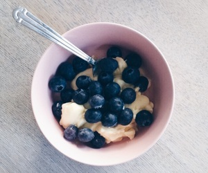 blueberries, food, and yum image
