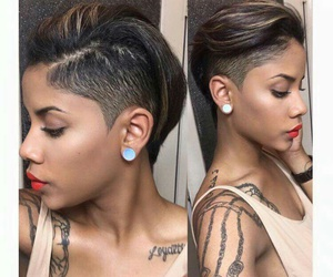 beautiful, short, and hairstyle image
