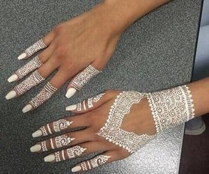 henna, white, and nails image