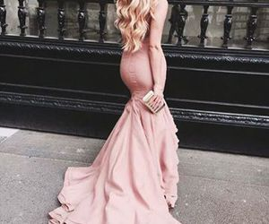 curly, dress, and girl image