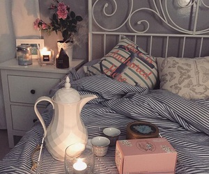 bed, sweet, and bedroom image