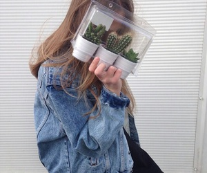 girl, grunge, and plants image