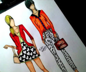 drawing, fashion, and work image