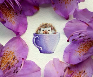 animal, art, and cup image