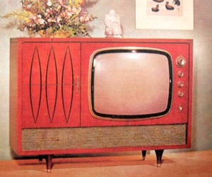 television, tv, and vintage image