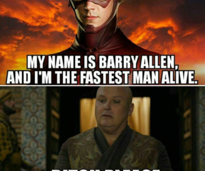 the flash, game of thrones, and funny image