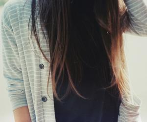 girl, hair, and brunette image
