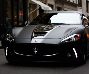 car, black, and maserati image