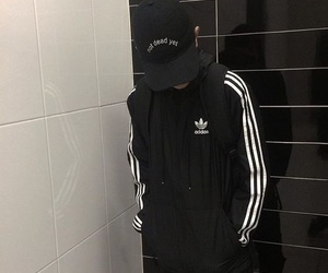 adidas, alone, and mad image