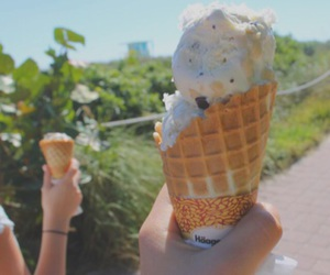 food, ice cream, and tropical image