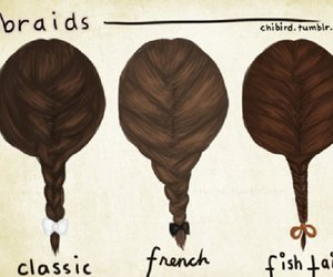 braid, hair, and classic image