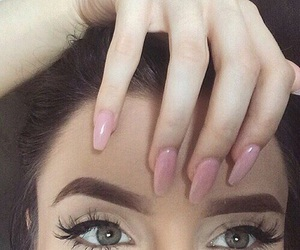 nails, girl, and eyes image