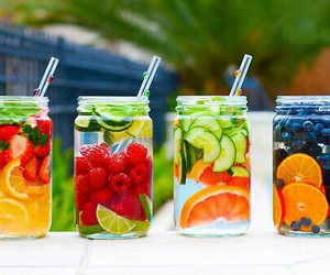 drinks, FRUiTS, and summertime image