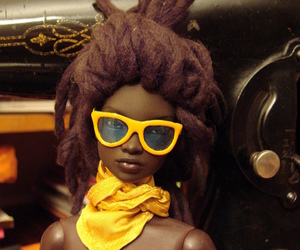 Afro and barbie image