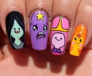 colorful, nails, and cute image