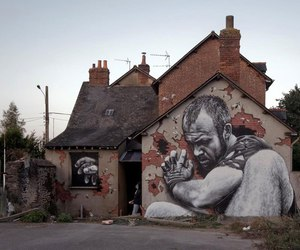 art, street art, and hyperrealistic image