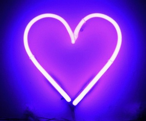 heart, purple, and neon image