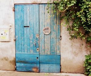 blue, door, and rustic image