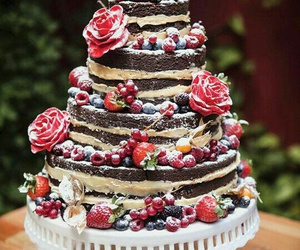 cake, casamento, and naked cake image