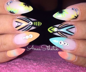 nails, nice, and uñas image