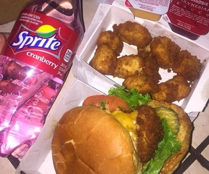 food, burger, and Chicken image