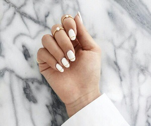 nails, white, and marble image