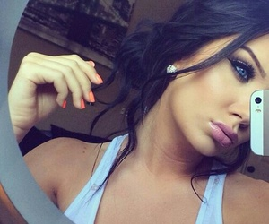 beauty, blue eyes, and selfie image