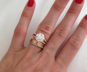 cartier, diamonds, and engagement image