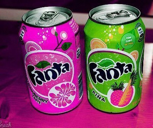 fanta, pink, and drink image