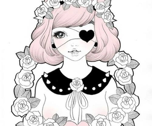 pastel goth, pink, and rose image