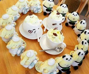 coffee, pompompurin, and cute image