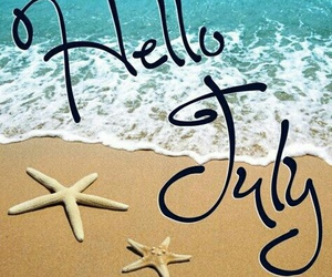 july, beach, and summer image
