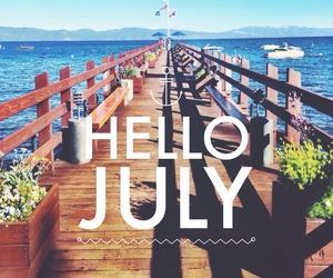 quote and hello july image