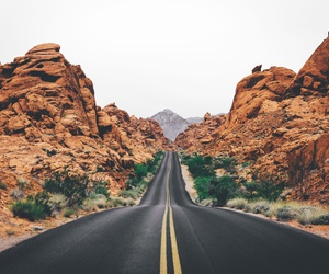 road, rocks, and travel image