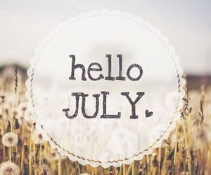 1, hello, and july image