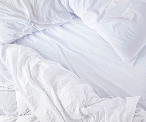 bed, white, and pink image
