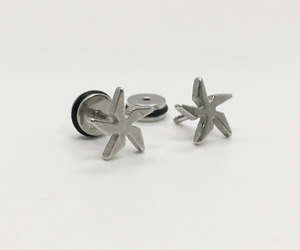 etsy, star earrings, and steampunk jewelry image