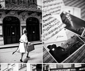 black and white and street image