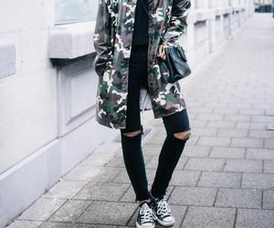 camo, converse, and fashion image