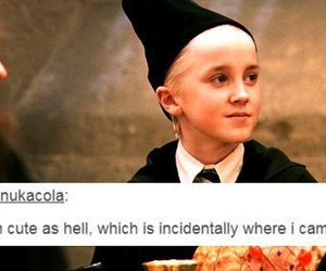 draco malfoy, harry potter, and hell image