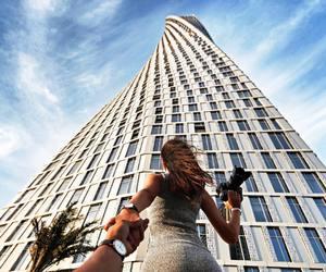 Dubai, girl, and sky image