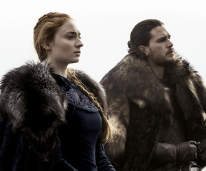 game of thrones, jon snow, and sansa stark image