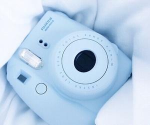 blue, polaroid, and aesthetic image