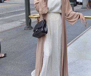 hijab, muslim, and abaya image