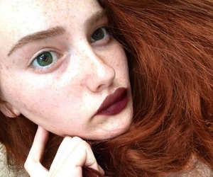 aesthetic, red hair, and freckles image